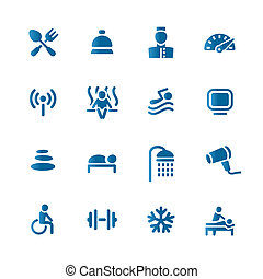 Hotel set icon - This image is a vector illustration and can...