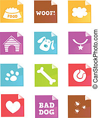 Dog icons acirc;euro;ldquo; VECTOR - Dog iconset for dog...
