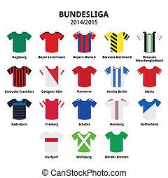 Bundesliga jerseys 2014 - 2015 icon - German football or...