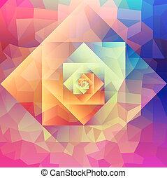 Vintage optic art geometric pattern