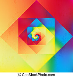 Vibrant optic art geometric pattern
