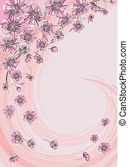 pink spring flowers