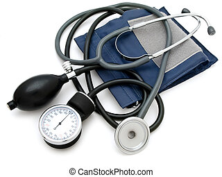 pressure - Photo of the sphygmomanometer with stethoscope...