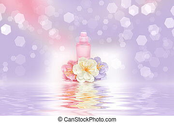 Fragrance of freshness and flowers - Perfume bottle with...