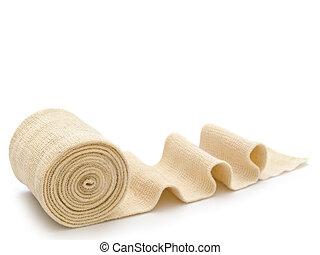 bandage - photo of the elastic bandage against the white...