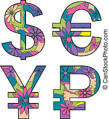 Money symbols - vector set of Money symbols