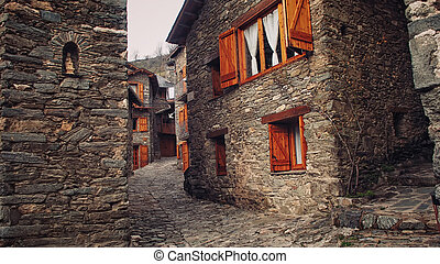 Small town in Catalonia - Small town Ribes de Freser in...