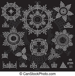 Round Ornament Pattern with pattern . Rangoli - Round...