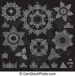 Round Ornament Pattern with pattern . Rangoli - Round...