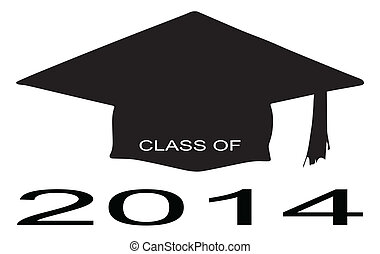 Class of 2014 - A cap with the legend Class of 2014 over a...