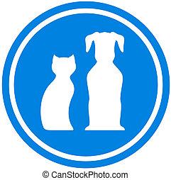 pet blue icon- pet shop isolated emblem