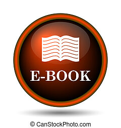 E-book icon Internet button on white background