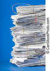 Stack of mail - Pile of envelopes, letters, bills, forms...