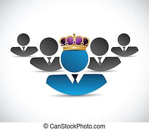 business king illustration design