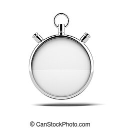 Empty stopwatch isolated on a white background 3d render