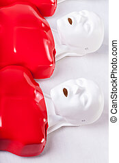 Dummies using to learning of resuscitation - Cpr dummies...