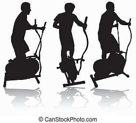Man on elliptical orbitrek