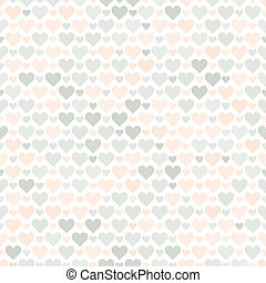 Romantic seamless pattern with hearts. Beautiful vector...