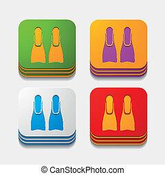 square button: flipper