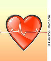 heart - human beating heart