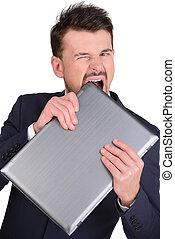 Emotions Business Man - Portrait of emotional businessman...