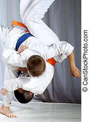 grande, nage, Judo, deportista