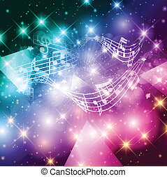 Abstract music notes background - Abstract background with...