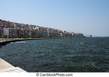 Izmir - view of Izmir waterfront, Turkey