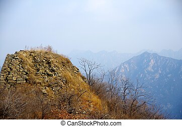 Run down - a broken down section of the great wall of china