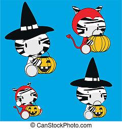 zebra baby animal halloween costume set in vector format...