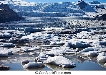 Iceberg Lagoon, Iceland - Fjallsarlon, glacier iceberg...
