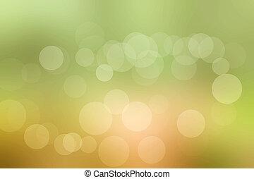 bokeh green light background