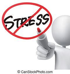 no stress drawn by a man