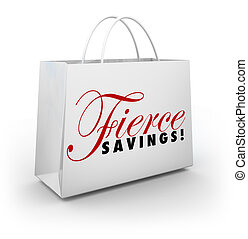 Fierce Savings Discount Sale Shopping Bag Buying Spree -...