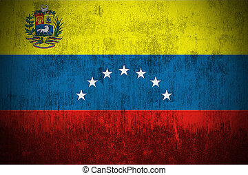 Grunge Flag Of Venezuela - Weathered Flag Of Venezuela,...