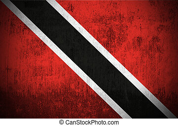 Grunge Flag Of Trinidad and Tobago - Weathered Flag Of...