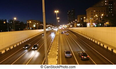 Traffic on the highway, Moscow