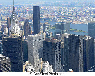 Aerial view of Manhatten, NYC, USA