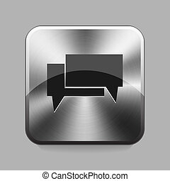 Chrome button - Chat chrome button or icon vector...