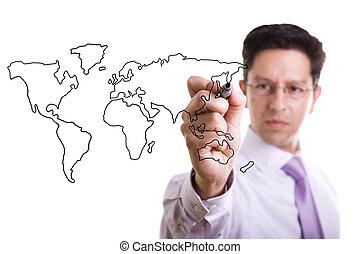global, negócio, conceito