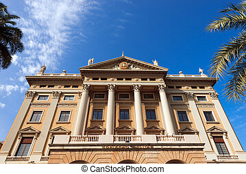 Military Government - Barcelona Spain - Building of the...