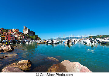 Lerici - La Spezia - Italy - Lerici typical seaside town in...