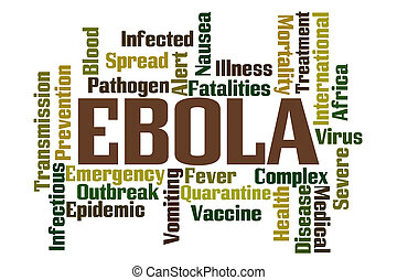 Ebola Word Cloud on White Background