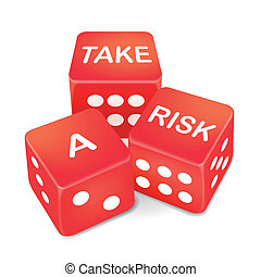take a risk words on three red dice
