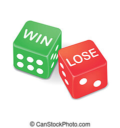 win and lose words on two dice