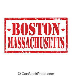 Boston-stamp - Grunge rubber stamp with text...
