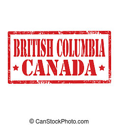 British Columbia-stamp - Grunge rubber stamp with text...