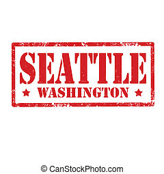 Seattle-stamp - Grunge rubber stamp with text Seattle,vector...