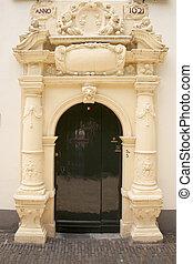 porch bruntenhof in utrecht - poort of bruntenhof in museum...