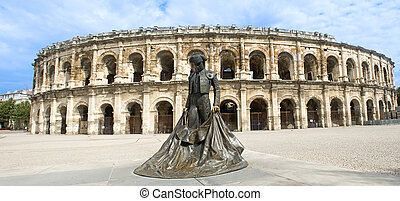 amphitheater in Nimes